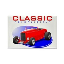 Classic Hot Rod Rectangle Magnet