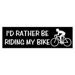 Bike Riding Bumper Bumper Sticker