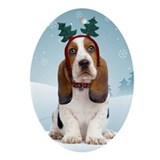 Basset hound Oval Ornaments