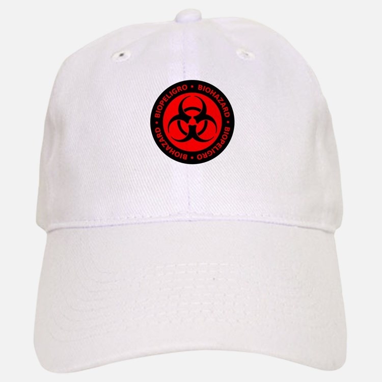 Red English-Spanish Biohazard Baseball Baseball Cap