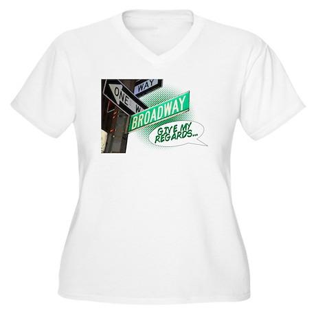Give my Regards Women's Plus Size V-Neck T-Shirt