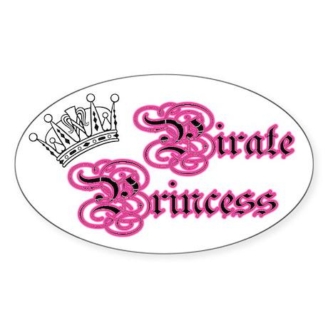 Pirate Princess Sticker (Oval)
