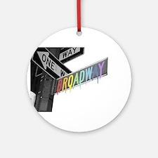 Broadway Ornament (Round)