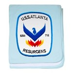 USS ATLANTA baby blanket