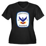 USS ATLANTA Women's Plus Size V-Neck Dark T-Shirt
