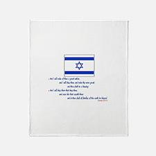Gen 12: 2-3 Israel Flag - Throw Blanket