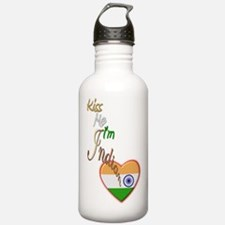 Kiss Me, I'm Indian - Water Bottle