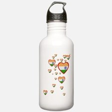 Hearts (Flag - India) - Water Bottle