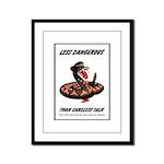 Dangerous Rattlesnake Poster Art Framed Panel Prin