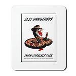 Dangerous Rattlesnake Poster Art Mousepad