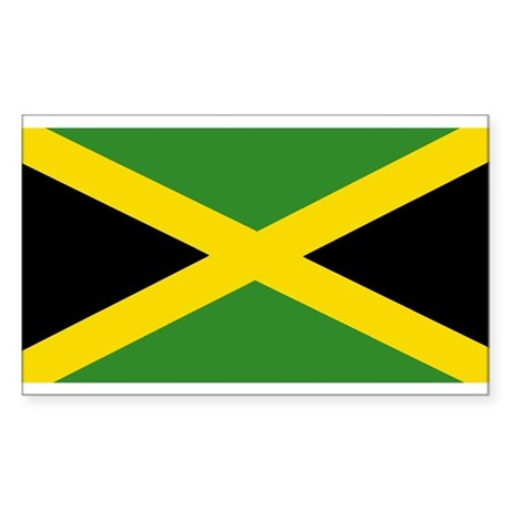 Jamaican Flag Sticker (Rectangle)