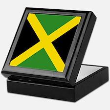 Jamaican Flag Keepsake Box