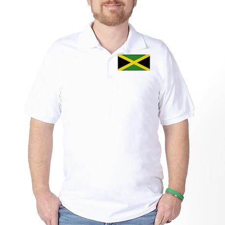 Jamaican Flag Golf Shirt