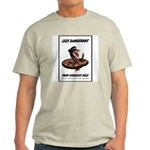 Dangerous Rattlesnake Poster Art Ash Grey T-Shirt