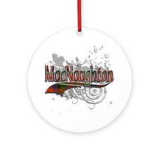 MacNaughton Tartan Grunge Ornament (Round)