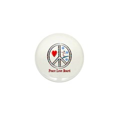 Peace Love Snowboard Mini Button (100 pack)
