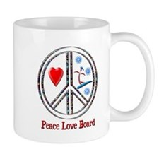 Peace Love Snowboard Small Mug