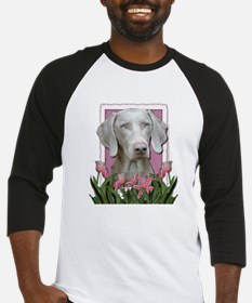 Mothers Day - Pink Tulips Baseball Jersey