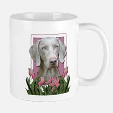 Mothers Day - Pink Tulips Small Small Mug