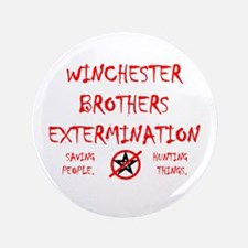 "Winchester Brothers 3.5"" Button"