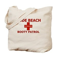 Nude Beach Lifeguard Tote Bag