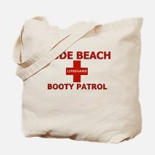 Nude Beach Lifeguard Tote Bag