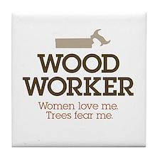 Trees Fear Me Tile Coaster