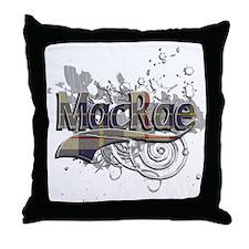 MacRae Tartan Grunge Throw Pillow