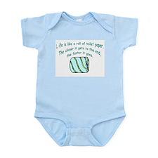 Life Like Toilet Paper Infant Creeper