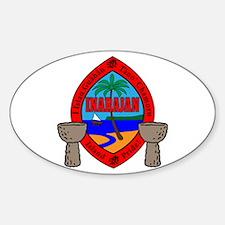 Guam Seal Sticker (Oval)