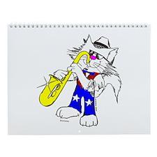 Catoons™ Saxophone Cat Wall Calendar