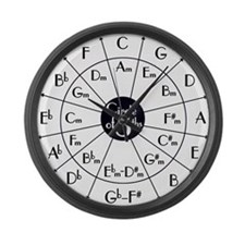 Cute Circle fifths Large Wall Clock