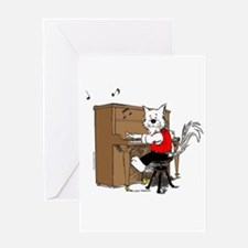 Catoons™ Piano Cat Greeting Card
