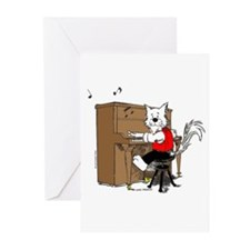 Catoons™ Piano Cat Greeting Cards (Pk of 10)