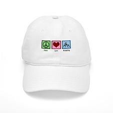 Peace Love Wrestling Baseball Cap