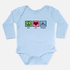 Peace Love Wrestling Long Sleeve Infant Bodysuit