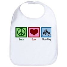 Peace Love Wrestling Bib