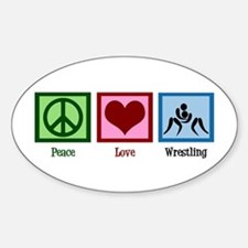Peace Love Wrestling Decal