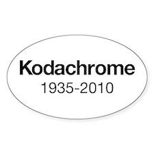 Kodachrome 1935-2010 Decal