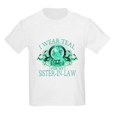 I Wear Teal for my Sister In Law (floral) T-Shirt
