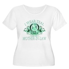I Wear Teal for my Mother In Law (floral) T-Shirt