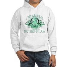 I Wear Teal for my Mother In Law (floral) Hoodie