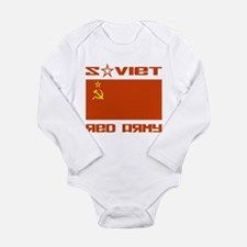 Soviet Red Army Flag Long Sleeve Infant Bodysuit