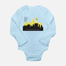 silhouette yellow - Long Sleeve Infant Bodysuit