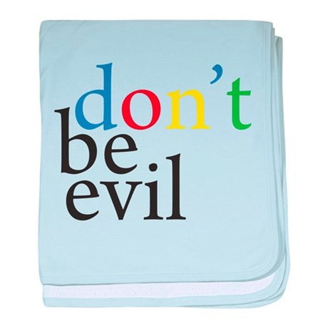 GOOGLE DON'T BE EVIL baby blanket