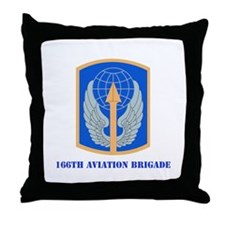 SSI - 166th Aviation Brigade with Text Throw Pillo