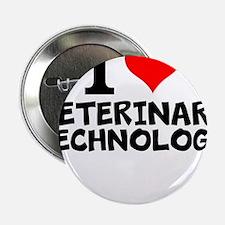 "I Love Veterinary Technology 2.25"" Button"