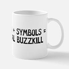 Math Plus Symbols Equals Tota Mug