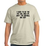 Not Fat Kid Now Likable Big G Light T-Shirt