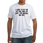 Not Fat Kid Now Likable Big G Fitted T-Shirt